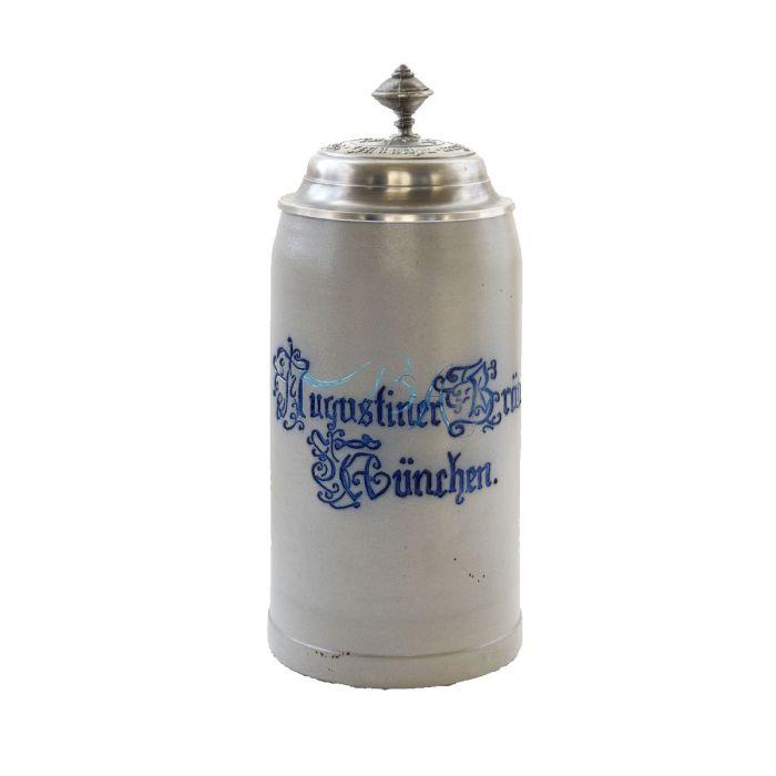 Augustiner Krug mit Zinndeckel Nr.3