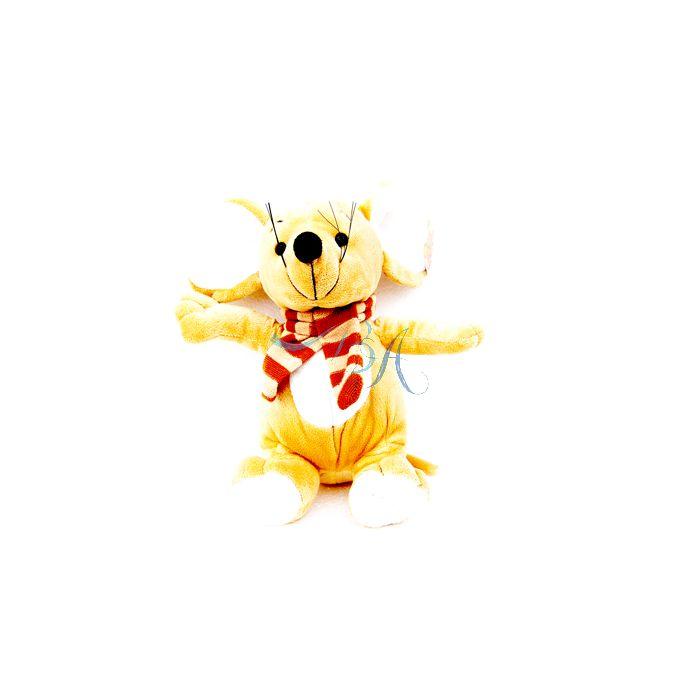 Plüschtier Maus mit Scharl-beige