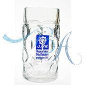 Augustiner Bräu Bierkrug Glas Maßkrug