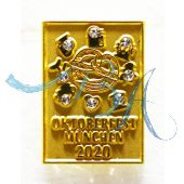 Pin Anstecker Oktoberfest Plakatmotiv Gold 2020