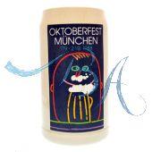 1988 - Offizieller Oktoberfestkrug Plakatmotiv, Jahrgangskrug, Wiesnkrug