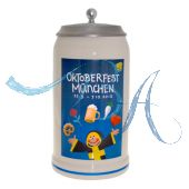 2012 - Offizieller Plakatmotiv Oktoberfestkrug mit Zinndeckel, Jahrgangskrug
