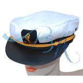 Spaß Hut Kappe, Kapitän-Mütze, Kapitänsmütze, Verkleidung & Kostüme, Seemann, Herren Damen - Kostüm, Captain
