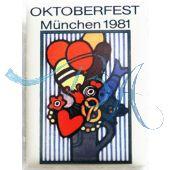 Pin Anstecker Oktoberfest Plakatmotiv 1981