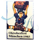 Pin Anstecker Oktoberfest Plakatmotiv 1985
