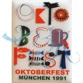 Pin Anstecker Oktoberfest Plakatmotiv 1991