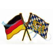 Pin Anstecker Flagge Deutschland u. Freistaat Bayern