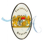 Pin Anstecker Wappen Grenzschild Bayern