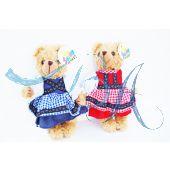 Plüschtier Teddybär Paar Dirndl
