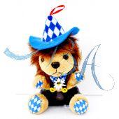 Plüschtier, Trachten Löwe mit Hut