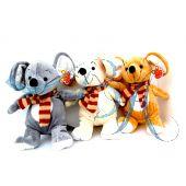 Plüschtiere Trio Mäuse mit Scharl
