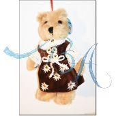 Plüschtier, Trachten Teddybär Madl mit original barischer Tracht