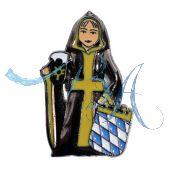 Pin Anstecker Souvenir Münchner Kindl blau Weis Wappen