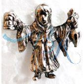 Pin Anstecker Souvenir Münchner Kindl Altsilber Imitat