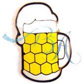 Pin Anstecker Souvenir Masskrug, gelb