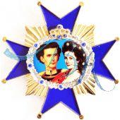Pin Anstecker Persönlichkeiten, König Ludwig & Elisabeth