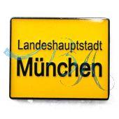 Pin Anstecker Souvenir Ortschild München