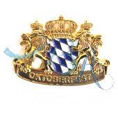 Pin Anstecker Wappen Bayrische Raute mit Löwen und Krone