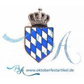 """Pin Anstecker Wappen """"Bayrische Raute mit Krone"""""""