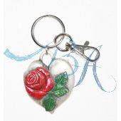 Schlüsselanhänger Trachten Style mit Metall-Herz