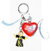 Schlüsselanhänger mit Münchner Kindl und Herzerl