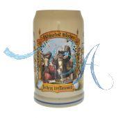2008 - Wiesn Wirte Krug, Brauereikrug, Bierkrug, Steinkrug, Oktoberfestkrug