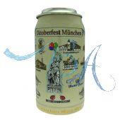 2002 - Wiesn Wirte Krug mit Zinndeckel, Brauereikrug, Bierkrug, Steinkrug, Oktoberfestkrug