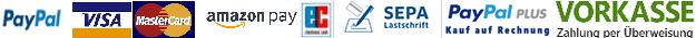 Verfügbare Bezahlmethoden / Payment methods, we accept